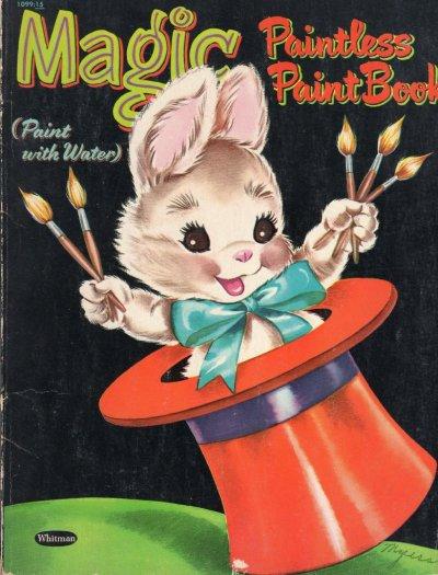 画像1: ☆WHITMAN ビンテージカラーリングブック☆Magic Paintless Paint Book