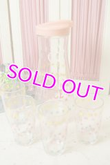 ☆HA/ヘーゼルアトラス ビンテージ ジュースカラフェ&グラスセット☆ピンク