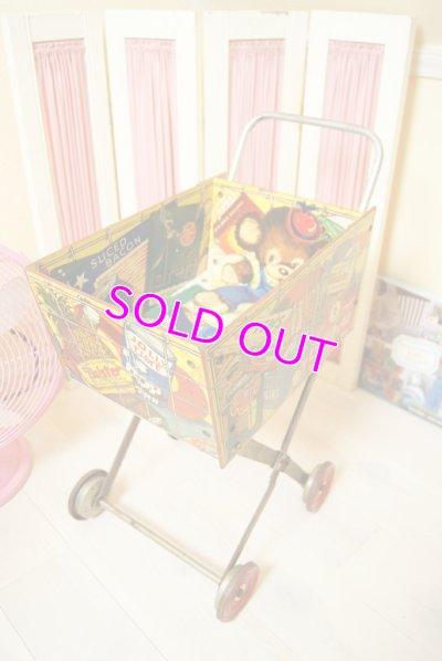 画像1: ☆GONG BELL ビンテージ ショッピングカートトイ☆