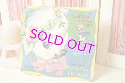 画像1: 1951☆PETER PAN RECORDS ビンテージ レコード☆MARY HAD A LITTLE LAMB