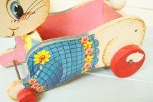 他の写真2: レア!60s☆ビンテージ Fisher-Price/フィッシャー プライス. プルトイ☆バニーカート