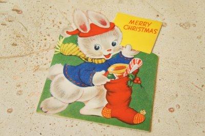 画像1: ☆ビンテージ クリスマスカード☆MERRY CHRISTMAS