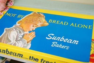 画像1: 1976年 デッドストック Sunbeam サンビーム ストアペーパーサイン 28cmx53.5cm