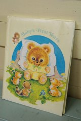 1981年未使用☆FRANCES WOSMEK ビンテージ ベビー レコードブック☆Baby's First Years