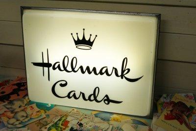 画像1: ☆Hallmark Cards/ホルマーク カード ビンテージ ライトバナーサイン☆