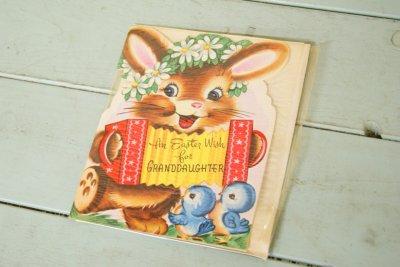 画像1: 50sレア!パッケージ入り☆ビンテージ イースターカード☆An Easter Wish For GRANDDAUGHTER