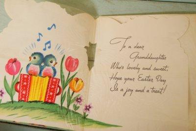 画像3: 50sレア!パッケージ入り☆ビンテージ イースターカード☆An Easter Wish For GRANDDAUGHTER