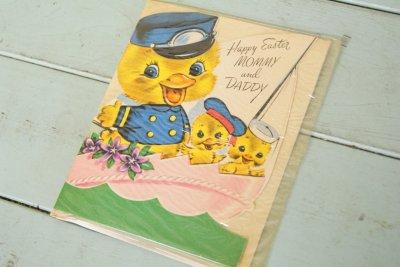 画像1: 50sレア!パッケージ入り☆ビンテージ イースターカード☆Happy Easter MOMMY and DADDY