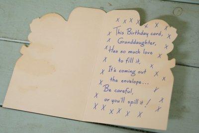 画像2: 未使用☆ビンテージ バースデーカード☆Happy Birthday, GRANDDAUGHTER!