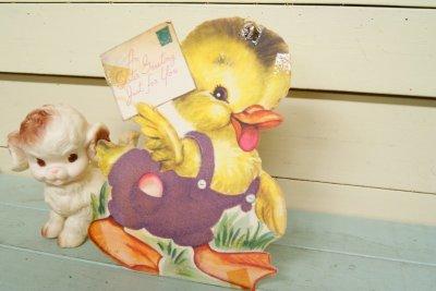画像1: M.Cooper☆ビンテージ イースター ジャイアントカード☆An Easter Greeting Just For You