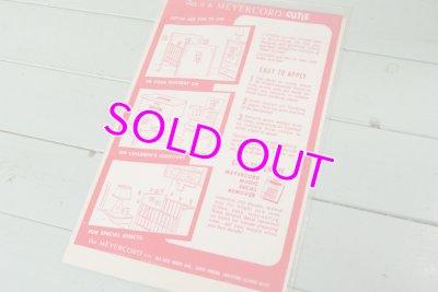 画像2: レア!キューティーシリーズ☆MEYERCORD デカールシール☆X 601-C