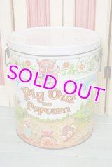 BIG☆ビンテージ ポップコーン缶☆Pig Out on Popcorn