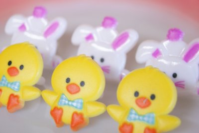 画像1: ☆チック&バニー型 ケーキトッパー/リング6個セット☆
