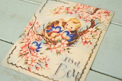 画像1: ☆ビンテージ ベビーカード☆It's a Boy