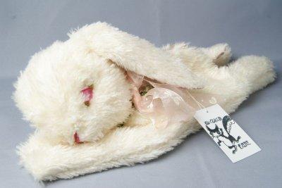 画像1: ぬいぐるみ工房tara うさぎのポーチ