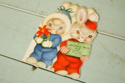 画像1: ☆ビンテージ クリスマスカード☆A CHRISTMAS WISH FOR YOU