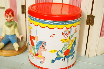 画像2: レア!☆BLUE MAGIC製 HOWDY DOODY ビンテージ クッキー缶☆