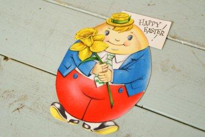 画像1: ☆ビンテージ イースターカード☆ハンプティ ダンプティ HAPPY EASTER!