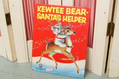 画像1: WONDER BOOK☆ビンテージ ブック☆KEWTEE BEAR SANTA'S HELPER