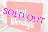 46x61cm☆ビンテージ Wendy's ロード ストアサイン☆