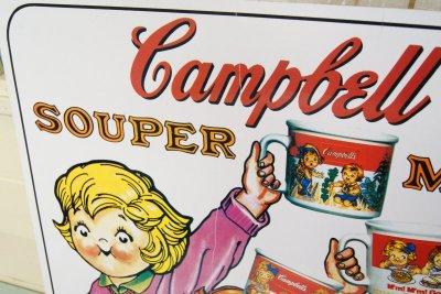 画像5: 42x62cm 1993年☆Campbell Kids キャンベル ビンテージ ストアサイン☆