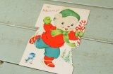 ☆ビンテージ クリスマスカード☆Hi, Mommy!