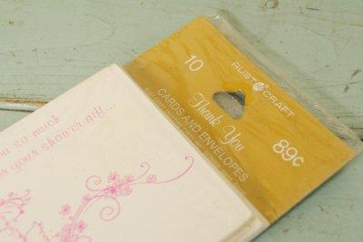 画像2: ☆ビンテージ サンキューカード&封筒10枚セット☆Thank you so much