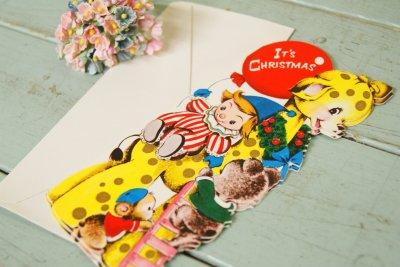 画像1: 未使用☆ビンテージ クリスマスカード☆IT'S CHRISTMAS