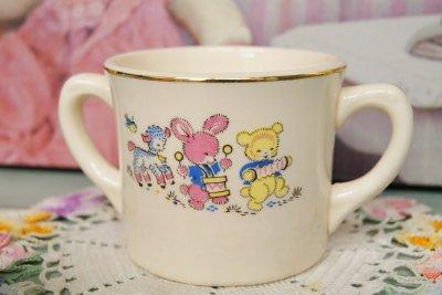 画像1: ☆ビンテージ チャイルドマグカップ☆アニマル