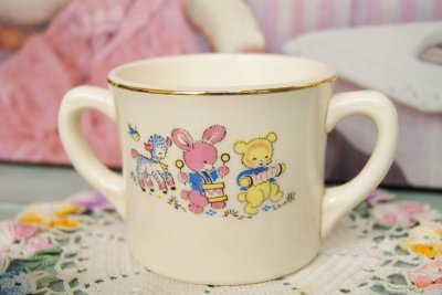 画像2: ☆ビンテージ チャイルドマグカップ☆アニマル