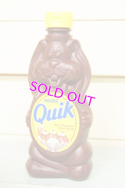 画像1: Nestle Quik☆ネスレ クイック クイックバニー ビンテージチョコレートシロップ容器