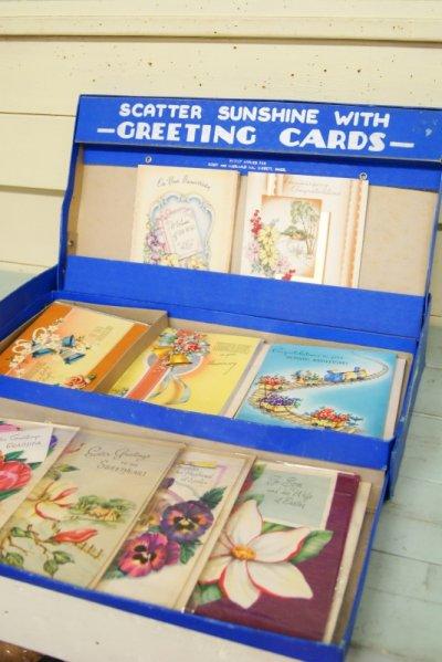 画像1: ☆ビンテージ グリーティングカード ディスプレイ☆未使用カード10枚付き