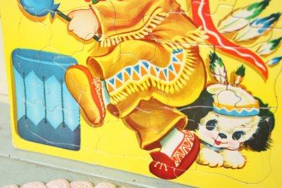 画像4: 大判☆Built Rite Toy ビンテージ パズル☆インディアン