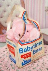 80's☆GUND/ガンド製 ビンテージ Babytime Bear☆ピンク