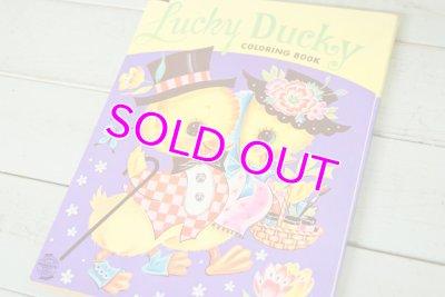 画像2: ARTCRAFT 未使用☆ビンテージ カラーリングブック☆Lucky Ducky