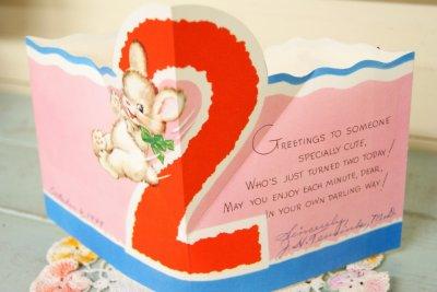 画像2: 1949年☆ビンテージ バースデーカード 王冠☆A HAPPY BIRTHDAY HAT FOR YOU