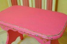 他の写真2: ☆ビンテージ・サイドテーブル/ベンチ☆ピンク